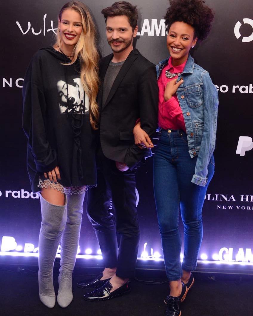 Tiago Parente com Yasmin Brunet e Sheron Menezzes